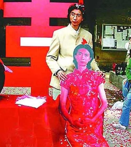 Liu Ye, China - married himself (cardboard cut out)