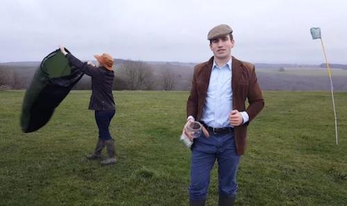 Businessman-selling-jars-of-British-air